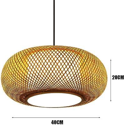 AHQX Nat/ürlicher Rattan Pendellampe Bambus Deckenleuchte Deckenlamp Kreative E27 Deckenlicht Handmade Lampenschirm Kronleuchter Restaurant Schlafzimmer Lampe Wohnzimmer Cafe Teehaus Lighting,/ø40cm