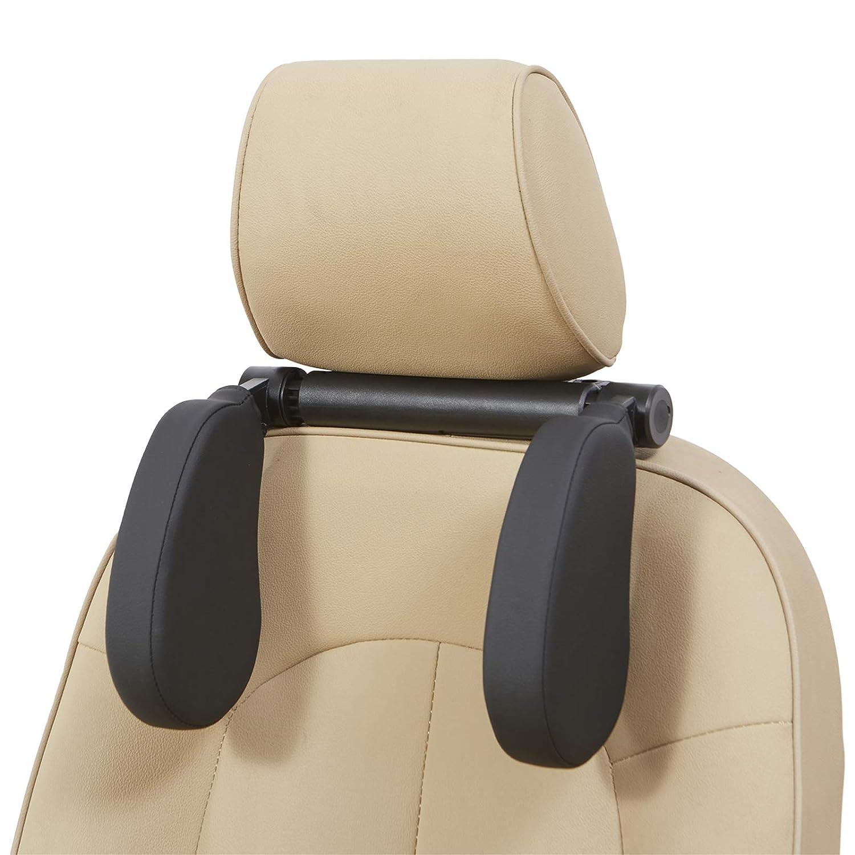 Car Seat Headrest Pillow, Car Neck Pillow Head Pillow, Adjustable Car Seat Neck Support, Memory Foam Travel Sleeping Pillow for Kids and Adult(Black)