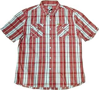 Firetrap Homme à manches longues rouge à carreaux chemise en coton Taille SMALL Gandhi