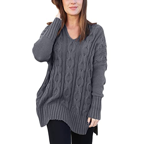 4875e04bf5bdcf Happy Sailed Women Casual Long Sleeve Knitwear Knitted Pullover Jumper