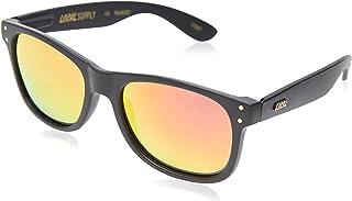 Local Supply Men's EVERYDAY Polarized Sunglasses - Sunset Mirror Lens, Matte Black Frames