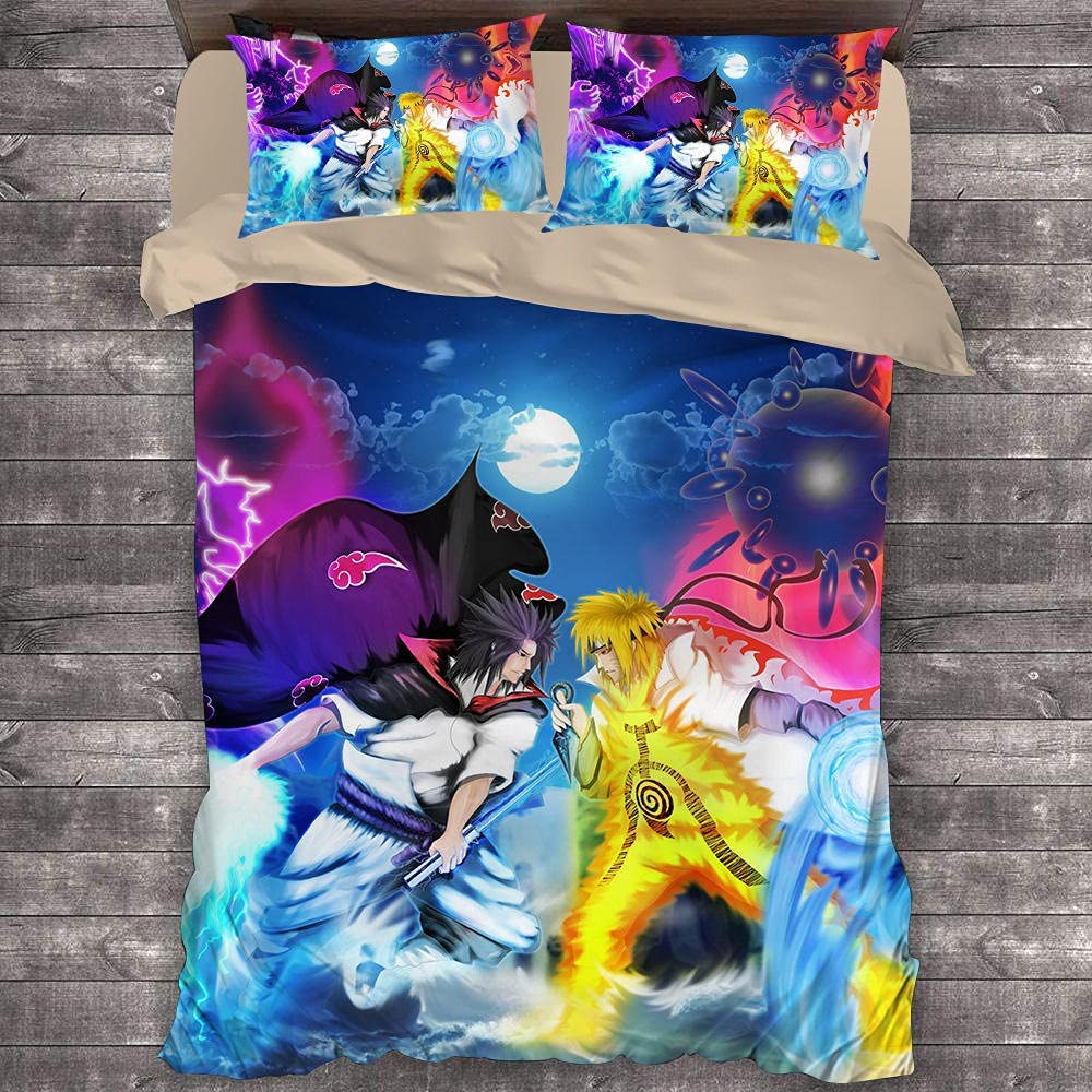 Naruto Chicago Mall Duvet Covers for Boys 2 Pillowcases with Cover Set Sales of SALE items from new works