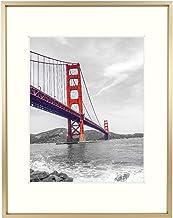 Moldura fotográfica de alumínio 11x14 com borda colorida marfim para foto 8x10 e vidro real, coleção de moldura de metal, ...