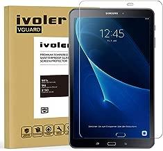 iVoler Protector de Pantalla Compatible con Samsung Galaxy Tab A 10.1 Pulgadas 2016 (T580/T585), Cristal Vidrio Templado Premium [9H Dureza] [Alta Definicion 0.3mm] [2.5D Round Edge]