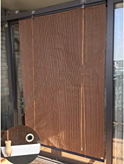 LJIANW Sun Shade Sail، ستائر خارجية أسطوانية لتزيين الحدائق شاشة خاصة تسمح بمرور الهواء من البولي إيثيلين عالي الكثافة للا...