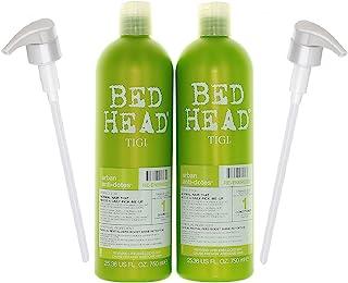 Bundle-4 Items : TIGI Bed Head Re-Energize Shampoo and Conditioner Duo, 25.36 oz & 2 liter pumps