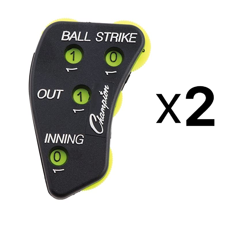 Champion 4-Wheel Baseball Softball Umpire Indicator Count Clicker (2-Pack)
