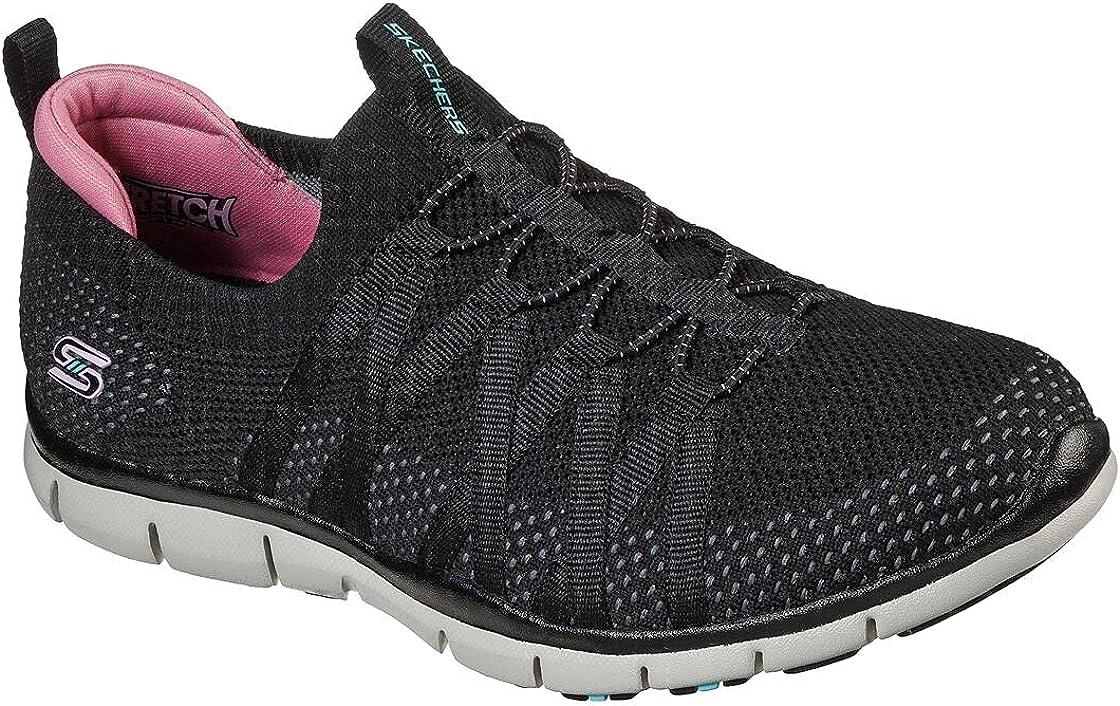 Skechers Women's Gratis - Chic Newness Sneaker, Black