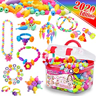 FunzBo Snap Pop Beads for Girls Toys - Kids Jewelry Making Kit Pop-Bead Art and Craft Kits DIY Bracelets Necklace Hairband...