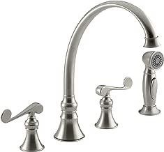 KOHLER K-16109-4-BN Revival Kitchen Sink Faucet, Vibrant Brushed Nickel