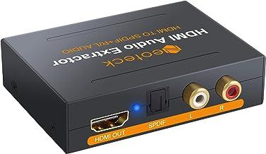 Neoteck HDMI Audio Extractor 1080P HDMI a Óptico SPDIF Toslink Convertidor + Adaptador de Vídeo HDMI Splitter HD Pass/2.0CH/5.1CH Soporta 3D para BLU-Ray DVD Player One Sky Caja PS3/4