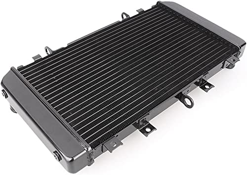 high quality Mallofusa Motorcycle Aluminum Radiator Cooling Cooler Compatible for Kawasaki online sale Z750 2004 2005 2006 Z750S online sale 2005 2006 2007 Black online