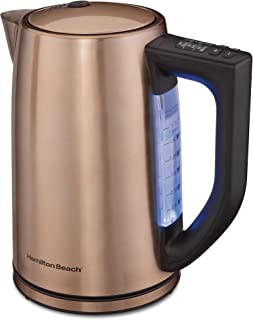 copper coloured electric kettle