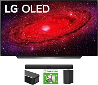 LG OLED65CXPUA 65-inch CX 4K Smart OLED TV with AI ThinQ (2020) Bundle SN5Y 2.1 Channel High Res Audio Sound Bar with DTS ...
