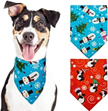 KOOLTAIL Christmas Pet Bandana 2 Pack - Snowman Penguin Printing Scarf Holiday Style,Triangle for Dogs,Cats and Puppy Cute Bibs