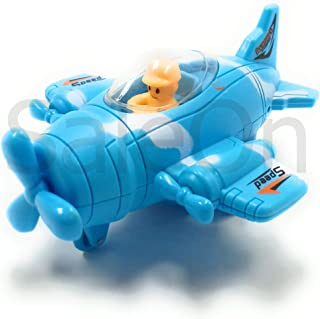 SaleOn™ Unbreakable Diecast Toy Friction Powered Plane or Biplane with Moving Propeller (Mix Color)-973