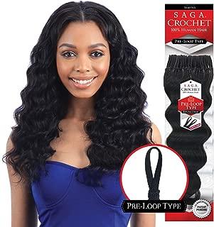 MULTI-PACK DEALS! Saga Human Hair Crochet Braids Pre Loop Type Loose Deep With FREE GIFT (12