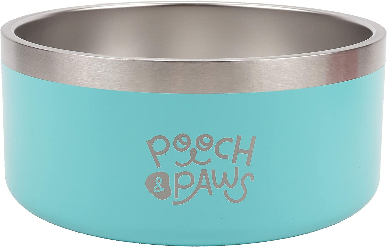 Pooch Paws Stainless Steel Non Minneapolis Mall Bowl Food Slip Feeder Max 46% OFF Dog
