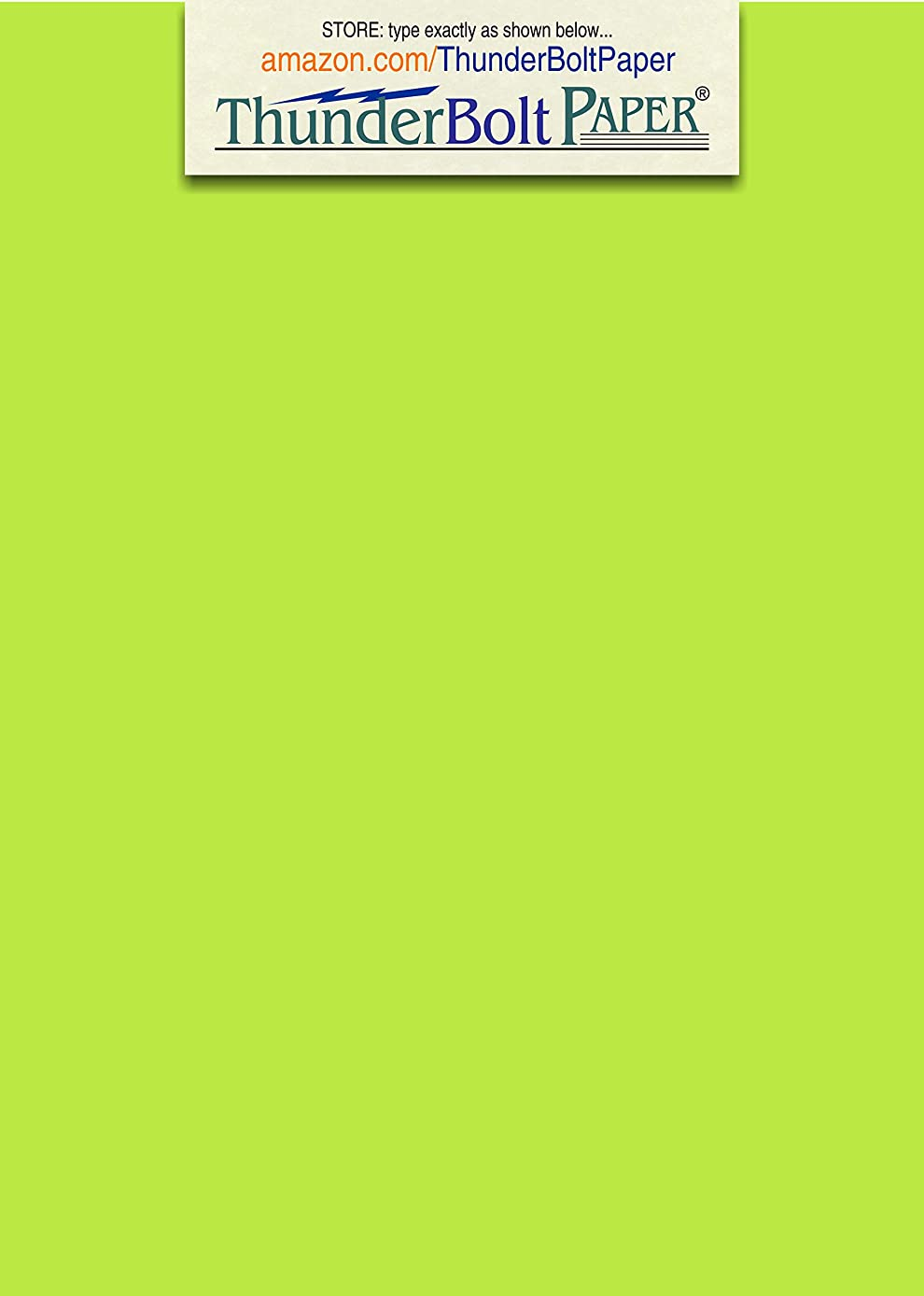 200 Bright Lime Green 65lb Cover|Card Paper - 5 X 7 Inches Photo|Card|Frame Size - 65 lb/Pound Light Weight Cardstock - Quality Printable Smooth Surface for Bright Colorful Results
