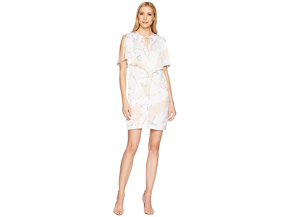 Kenneth Cole New York Capelet Dress (Floating Shapes/White) Women