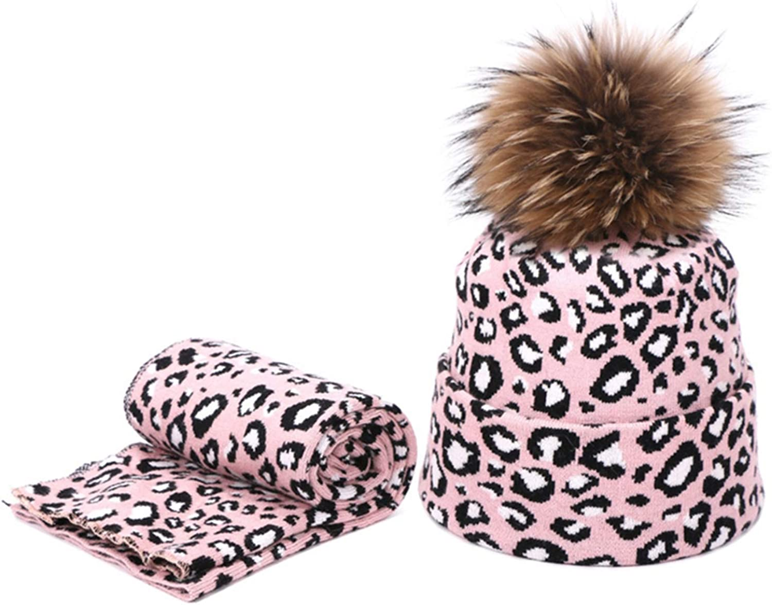 Winter Max 87% OFF Knit Hat Scarf Set Fashion Beanie OFFicial store Pom Warm ball with