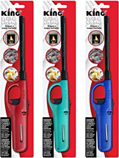 3 Pack King BKOU172 Multi Utility Lighter Assorted Colors