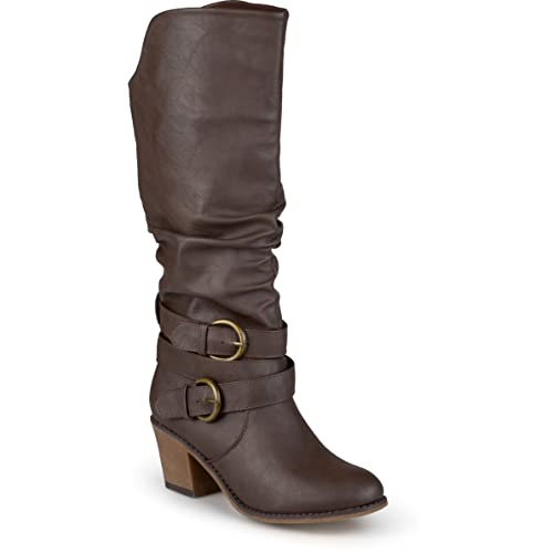 80fc3d7843d Journee Collection Women s Buckle Slouch High Heel Boots