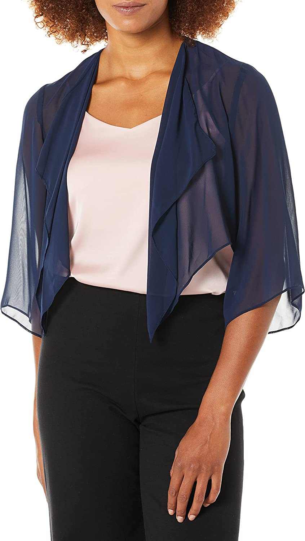Alex Evenings Women's Short Bolero Shrug Jacket