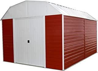 Arrow RH1014 Red Barn 10-Feet by 14-Feet Steel Storage Shed