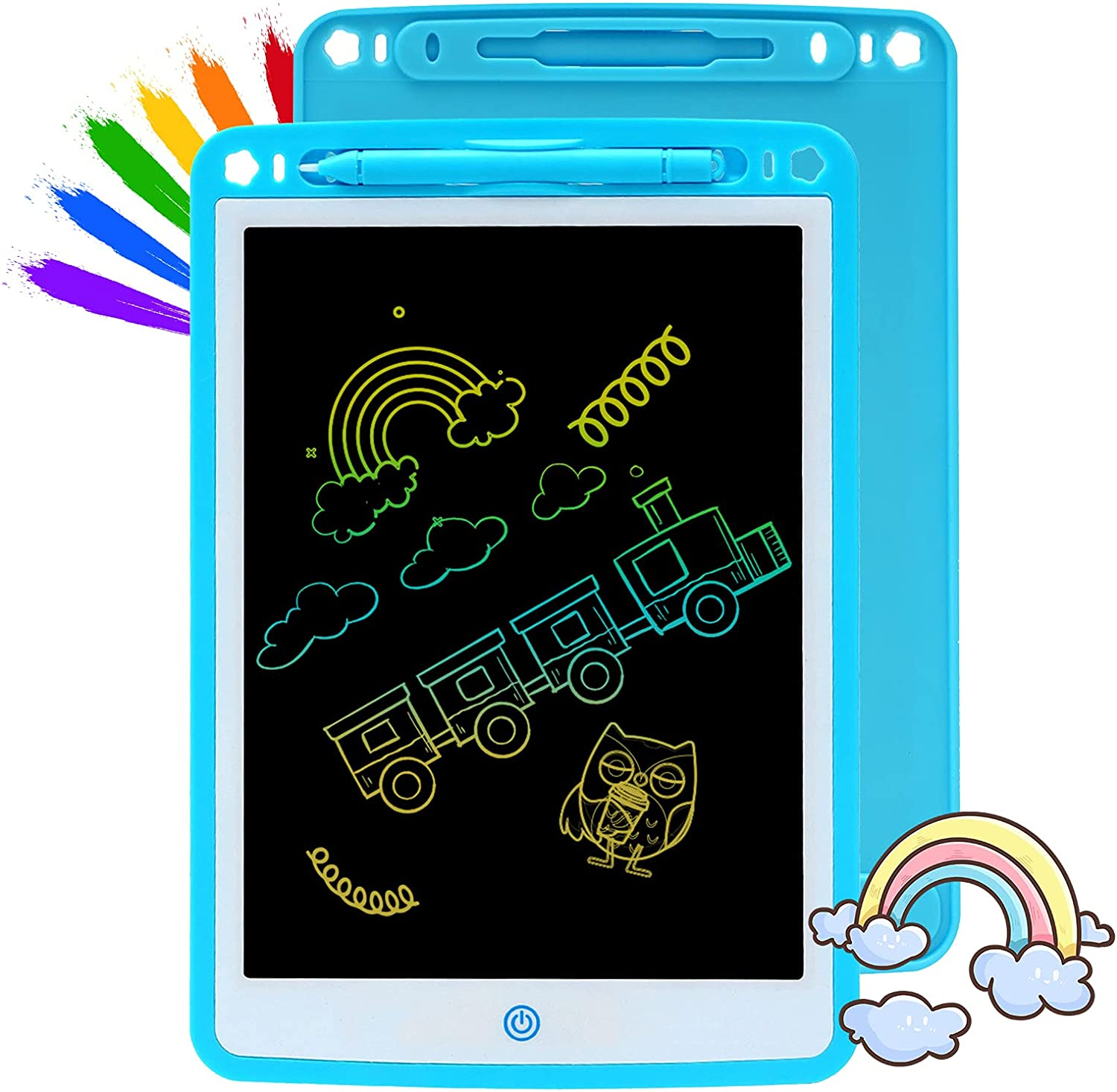 QDH LCD Writing Tablet for Kids 10 Inch Blue Writing Board Toddl