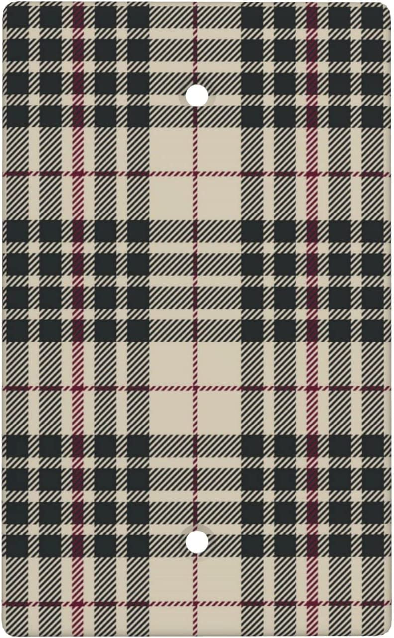 Tartan In stock Blank Cover Wall Plate Standard 2.76 5 ☆ popular Po Size X Inches 4.5