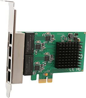 4 Port (Quad) Gigabit Ethernet PCI Express 2.1 PCI-E x1 Network Adapter Card (NIC) 10/100/1000 Mbps Card with Realtek Chipset