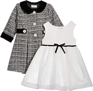 Baby Girls 2-Pc. Tweed Coat & Party Dress