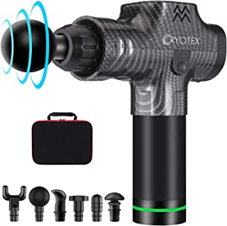 Cryotex Massage Gun – Deep Tissue Handheld Percussion Massager – Six Different Heads..
