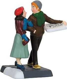 Department 56 Christmas in The City Pizza Date Figurine Village Accessory, Multicolor