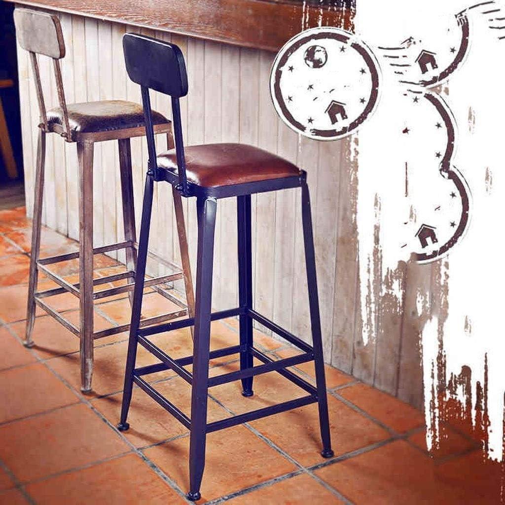 Bar Footstool Haute en Bois, Chambre Salon Maison Chaise Dossier, Tabouret De Maquillage Moderne (Color : D) F
