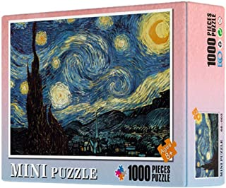 Diagtree Jigsaw Puzzle 1000 Pieces Puzzle for Adult Kids The Starry Night by Van Gogh Puzzles Educational Game for Adult C...