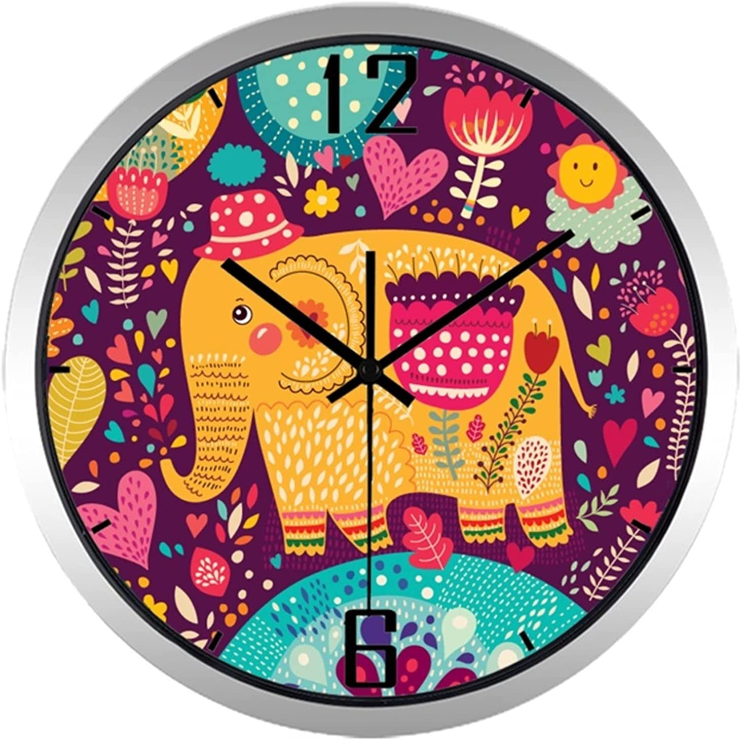 Limited time for free shipping YSYSPJM Wall Clock 10inch Children Room Bedro Credence Kid