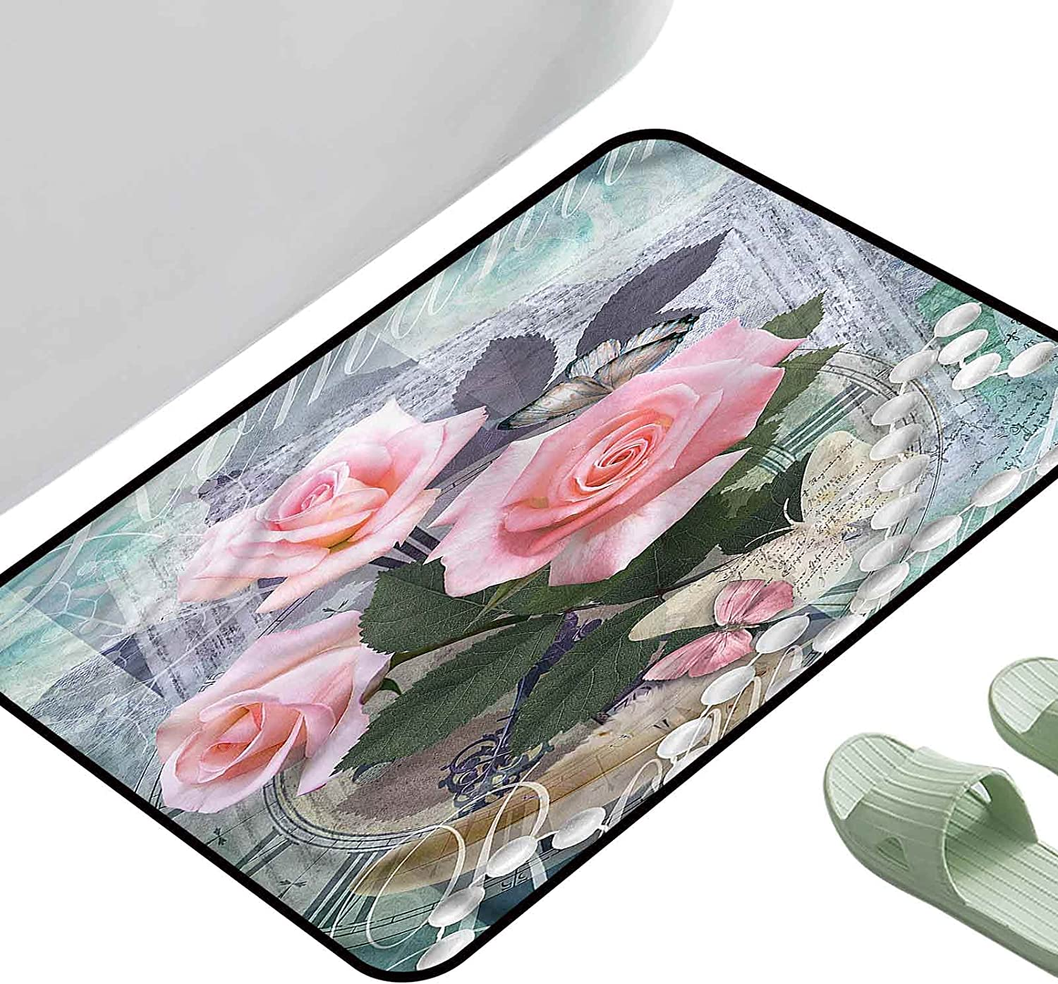 for Max 57% OFF Inside Outdoor Pearls Vintage Rose Rectang 23