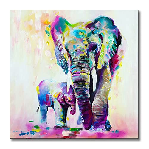 BLUE ELEPHANT ART PRINT POSTER Animals Colourful Colorful Bright Illustration