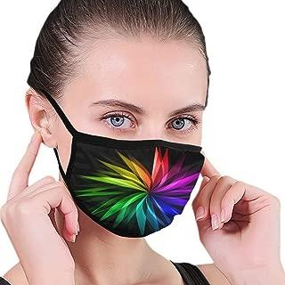 Dust Mask Rainbow Flower Art Dustproof Masks,Protective Mask,Air Face Mask,Cold Mask,Mouth Masks, Half Face Mask, Adjustable Washable Mask for Women Man
