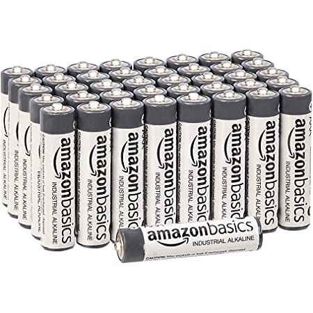 Amazon Basics - Pilas alcalinas AAA de uso industrial (40 unidades)