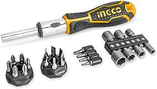 INGCO ドライバーセット 24点組 ポジネジ対応 ドライバー 工具セット ポジドライバー ポジドライブ 精密ドライバー 滑り止めハンドル HKSDB0248 (24点組)