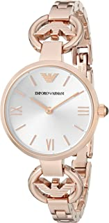 Emporio Armani Women's AR1773 Classic Analog Display Analog Quartz Rose Gold Watch