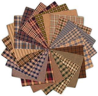 40 Cozy Charm Pack, 5 inch Precut Cotton Homespun Fabric Squares by JCS