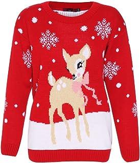 25a611396da9f Ladies Girls ChristmasPrint Snowman Santa Swing Dress UK Size 8-14 (M/L