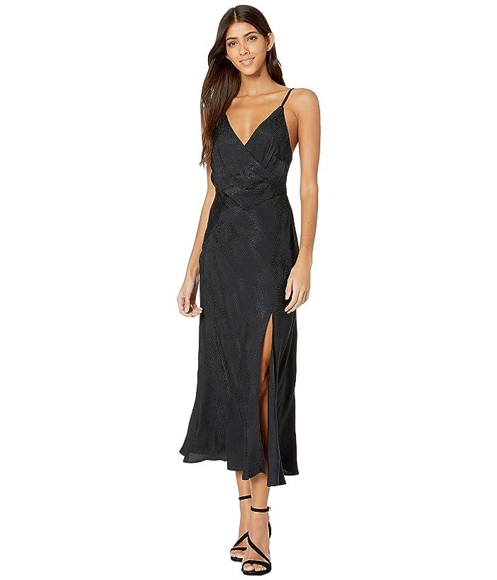 ASTR the Label  Bastille Dress (Black Python) Womens Clothing