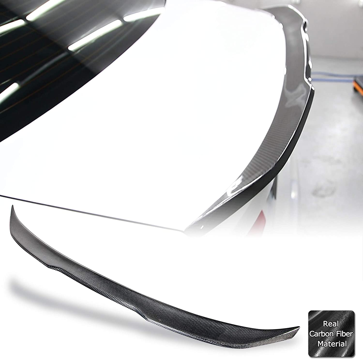 Max 62% Spasm price OFF AeroBon Real Carbon Fiber Trunk Spoiler Compatible 2009-16 with