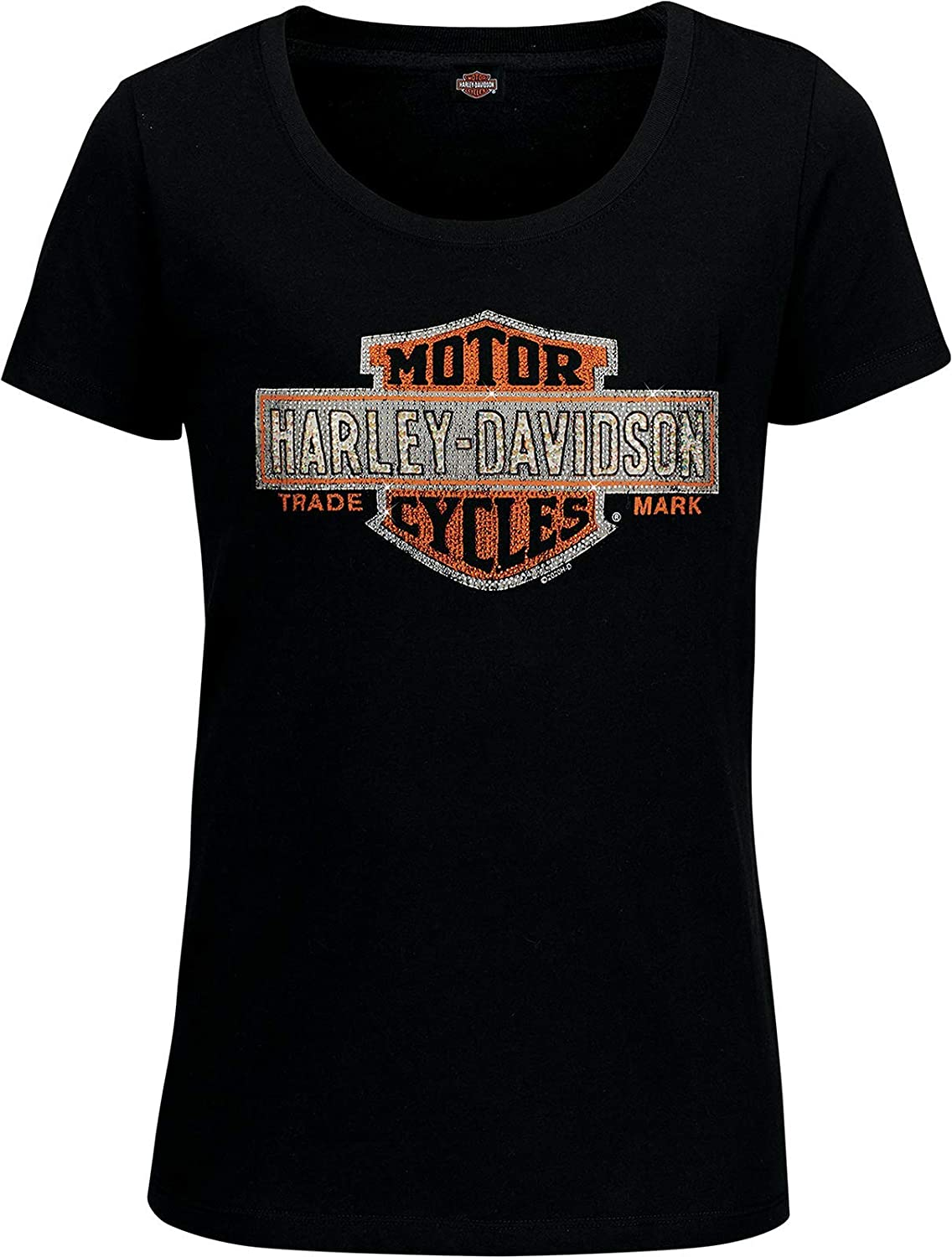 Harley-Davidson Military - Women's Save Baltimore Mall money Black and Bar Neck Shie Scoop