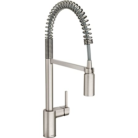 Moen 5923SRS Align One-Handle Pre-Rinse Spring Pulldown Kitchen Faucet, Spot Resist Stainless